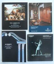 Four (4) Auction Catalogs w/ Americana Folk Art Painting (s) Art Reference NoRes