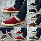 Britsh Men's Casual Canvas Sneakers Slip On Loafer Moccasin Zapato Breathe Shoes