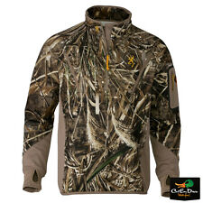 BROWNING WICKED WING SMOOTHBORE FLEECE 1/4 ZIP PULLOVER TOP MAX-5 CAMO SMALL