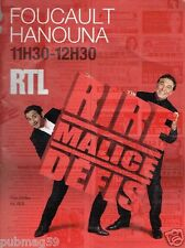 Publicité advertising 2010 Radio RTL avec Jean Pierre Foucault et Cyril Hanouna