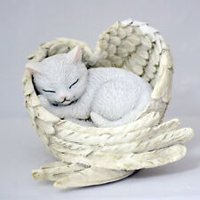 LOVE NEVER FUR-GETS Cat in Angel Wings Figurine NEW