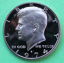 1974 S Proof Kennedy Half Dollar Coin 50 Cent JFK from Proof Set