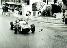 Stirling MOSS Signed Autograph 16x12 Motor Racing Legend Vintage Car Photo AFTAL