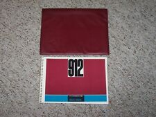 1966 Porsche 912 Factory Original Owners Owner Manual Book w/ Case RARE!