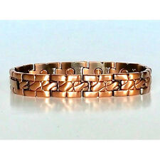 8.5  IN COPPER MAGNETIC BRACELET UNIQUE DESIGN WITH MAGNET EVERY LINK NEW 6450