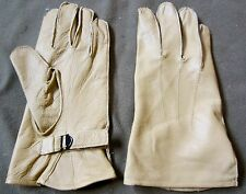 WWII US ARMY AIRBORNE PARATROOPER DDAY LEATHER JUMP GLOVES-SIZE MEDIUM