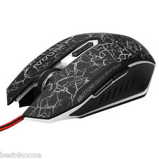 Adjustable DPI Optical Wired Wheel Gradient  Athletics Gaming Mouse for Laptop