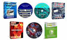 Impara a Installare Riparazione  WINDOWS XP Vista 7 8 10 Training Video Corso CD