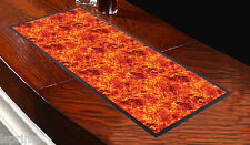 FIRE DESIGN BAR RUNNER FLAMES ORANGE RED BAR RUNNER L&S PRINTS IDEAL FOR PARTIES