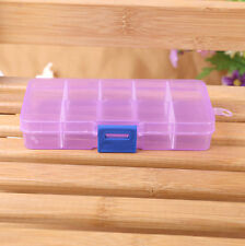 1PC 10 Grids Adjustable Jewelry Beads Pills Nail Art Storage Box Case US US