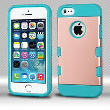 For Apple iPhone 5 5S SE Tuff Trooper HYBRID TPU Case Phone Cover Accessory