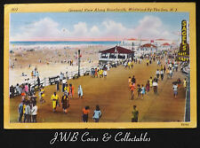 Old Postcard Of General View Along Boardwalk, Wildwood-By-The-Sea, N.J