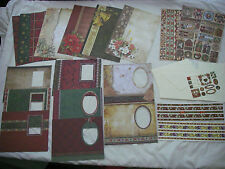 Christmas Card Kit Xmas Aperture Cards A4 Papers Jelly Stickers Sticky Ribbon L2