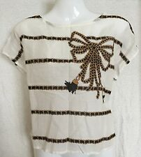 BNWT Ivory 100% Cotton Chain Print NEW LOOK Top Size 12