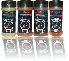 Chili Powder Gift Set Spice Jalapeño Chipotle Ancho Aji Amarillo Gift Pack Amigo