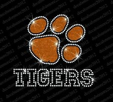 Clemson University Tigers Football - Bling - Iron-on Rhinestone Transfer