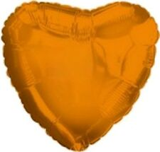 "18"" Solid Orange Heart Shape Balloon Wedding Baby Shower Birthday Bridal Luau"