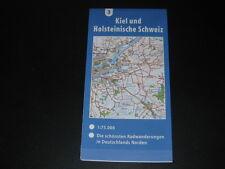 Fahrradkarte Tourenkarte Radwanderungen Deutschland Nord: Kiel Holsteinische CH
