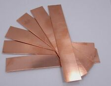 "Raw Copper Sheet, Bracelet Cuff Blanks 6"" x 1"" 20ga Package Of 6"