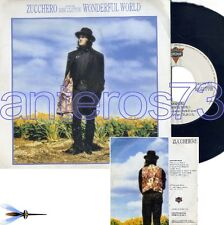 "ZUCCHERO feat ERIC CLAPTON ""WONDERFUL WORLD"" RARO 45GIRI PROMO SPAGNA"