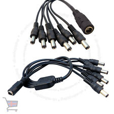 CCTV Camera Power Supply Splitter 12V DC 2.1mm Female to 6 Male Cable Wire UKES