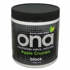 ONA Block Apple Crumble, 6 oz - Air Freshener Deodorizer Jar