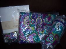VERA BRADLEY HEATHER BABY SET PACIFIER POD BOTTLE CADDY CHANGING PAD + MORE