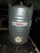 Vintage Heavy Duty IGLOO 5 Gallon Galvanized Steel Perm-A-Lined Water Cooler