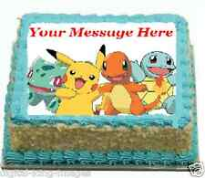 Pokemon Cake topper edible image icing Birthday Party celebration REAL FONDANT