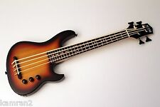 KAM Mini Bass high output Solid body Ukulele Bass: SUB – Sunburst