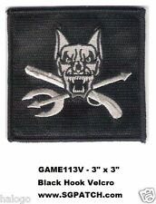 RILEY - VEL-KRO CALL OF DUTY GHOST DOG PATCH - GAME113V