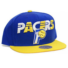 Mitchell & Ness NBA Tri Pop Team Wordmark Snapback Hat (Indiana Pacers)