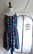 NWT Disney Parks Dress Shop Large It's A Small World Signs Dress with Bag 2