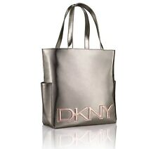 DKNY LADIES METALLIC SILVER DESIGNER's TOTE BAG BN UK SELLER