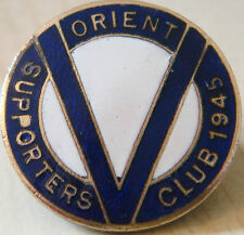 LEYTON ORIENT Very rare 1945 SUPPORTERS CLUB badge Brooch pin 23mm x 23mm