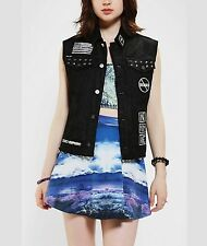 Urban Outfitters Kill City False Hope Studded And Patched Vest Retails 125.00