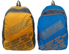 American Tourister 2 Backpack Combo of Yellow & Blue