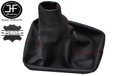 RED STITCHING FITS SEAT IBIZA III 2002-2008 BLACK GEAR GAITER REAL LEATER