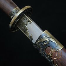 "HANDMADE HIGH QUALITY CHINESE SWORD ""LONG FENG QING DAO"" PATTERN 95.5""CM #5308"