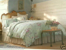 Simply Shabby Chic Bramble Rose KING duvet cover Set Rachel Ashwell green ruffle