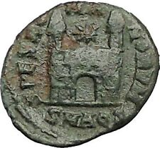 Magnus Maximus 383AD Authentic Ancient Roman Coin Military camp gate i55634
