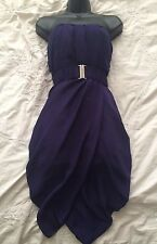KAREN MILLEN Lovely and Smart Purple Bandeau Dress Size 10 UK