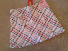 NWT Gymboree Classroom Kitty Pink Gray Plaid Skort Girls Sz 7