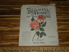 That Beautiful Home of the Rose OLD Portland Oregon sheet music Benifit of Blind