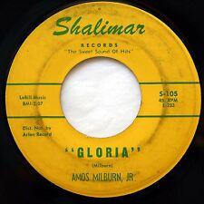 HEAR Amos Milburn 45 Gloria/Look At A Fool SHALIMAR 105 EX R&B soul mod rocker