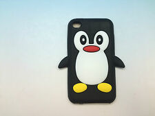 Cute Silicone Penguin Cover Case for iPod Touch 4