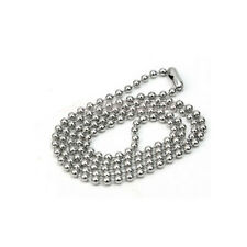 24 inch necklace chain - ideal for dog tags, pendants and guitar picks