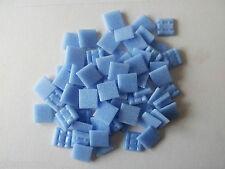 500g Mosaiksteine Glasmosaik Flieder Farbe, leichtes hell Blau   (A17)