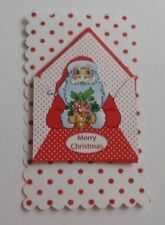 2 CHRISTMAS SANTA EMBELLISHMENT TOPPERS FOR CARDS AND CRAFTS