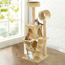 "Deluxe 52"" Cat Tree Condo Furniture Play Toy Scratch Post Kitten Pet House Beige"